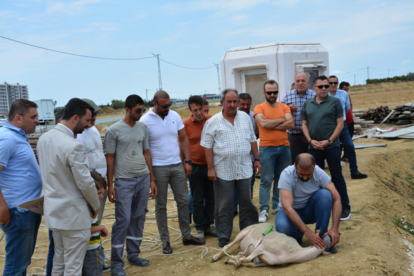 Akaşehir Silivri'nin temel betonu döküldü