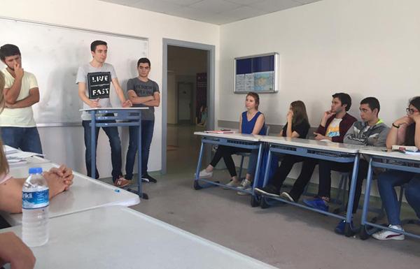 Uğur'lu öğrenciler tecrübelerini paylaştı