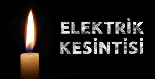 Elektrik kesintilerine dikkat