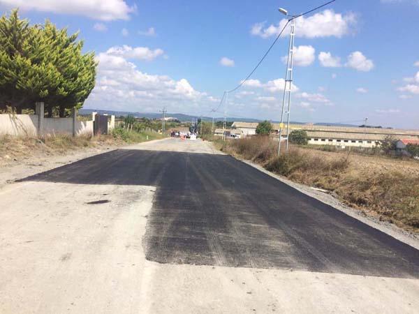 Bekirli'de  yol bakımı
