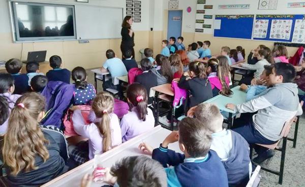 Beyciler Ortaokulu'nda Kodlama etkinlikleri