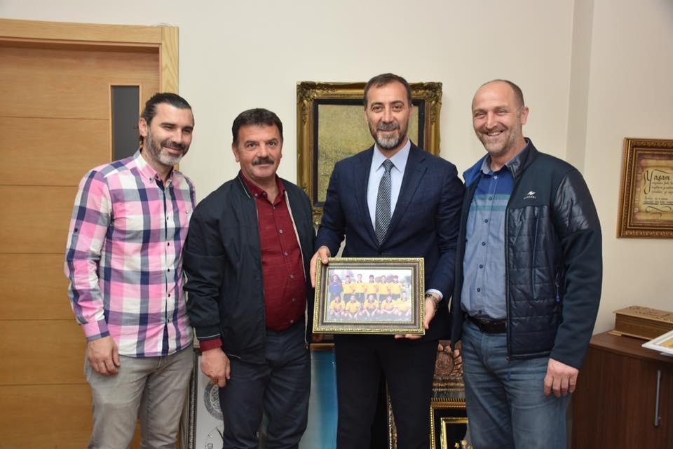 Eski takım arkadaşlarından Volkan Yılmaz'a ziyaret