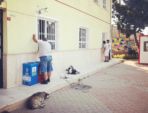 Gazitepe okuluna Belediye desteği
