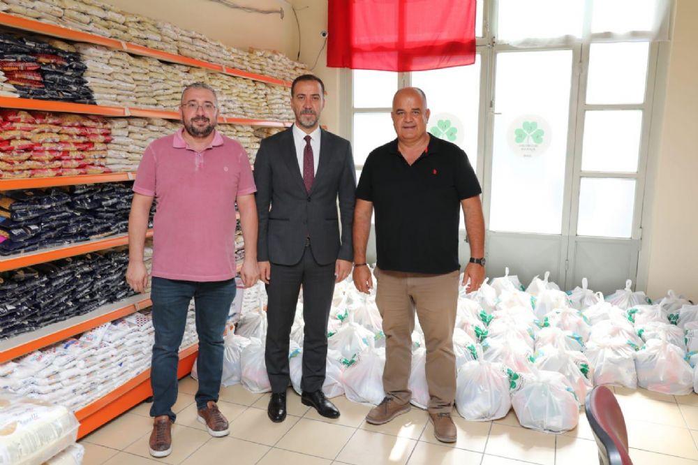 Hayırseverlerden Gıda Bankasına destek