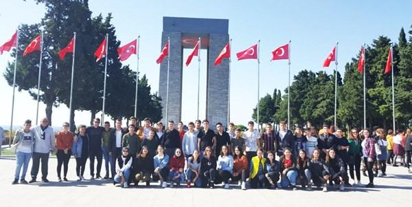 TÜRAM Lisesi öğrencileri Çanakkale'de