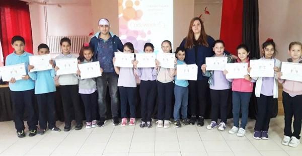 Sönmez öğrencileri Katılım Belgelerini aldı