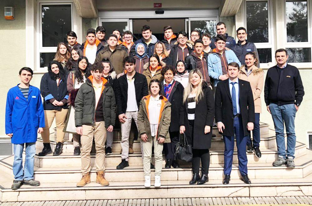 TÜRAM Lisesi öğrencileri Sarten'i ziyaret etti