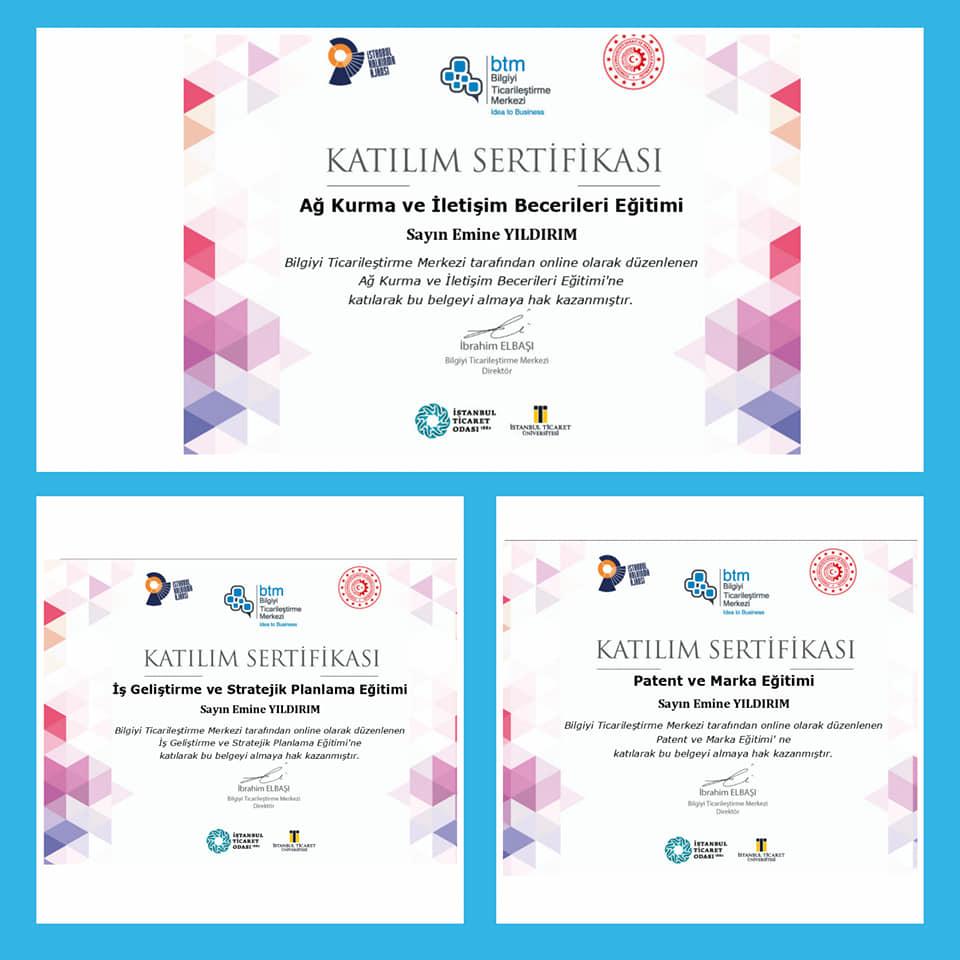 Yıldırım, üç ayrı eğitime katılarak sertifikalarını aldı