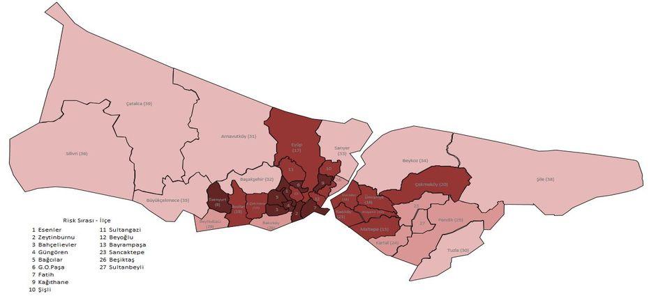 İstanbul'da en az riskli bölgeler arasındayız