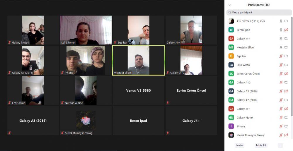 8.Sınıf Öğrenci ve velilerle Online Toplantı