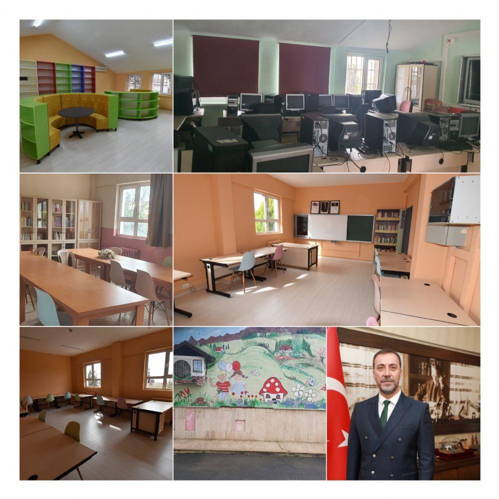 Gazitepe okulu Başkan Yılmaz'ın talimatıyla yenilendi