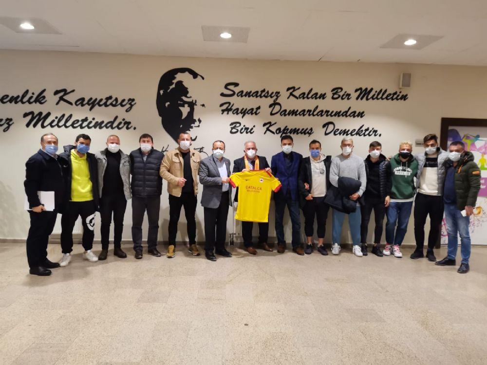 Çatalcaspor'dan Üner'e teşekkür ziyareti