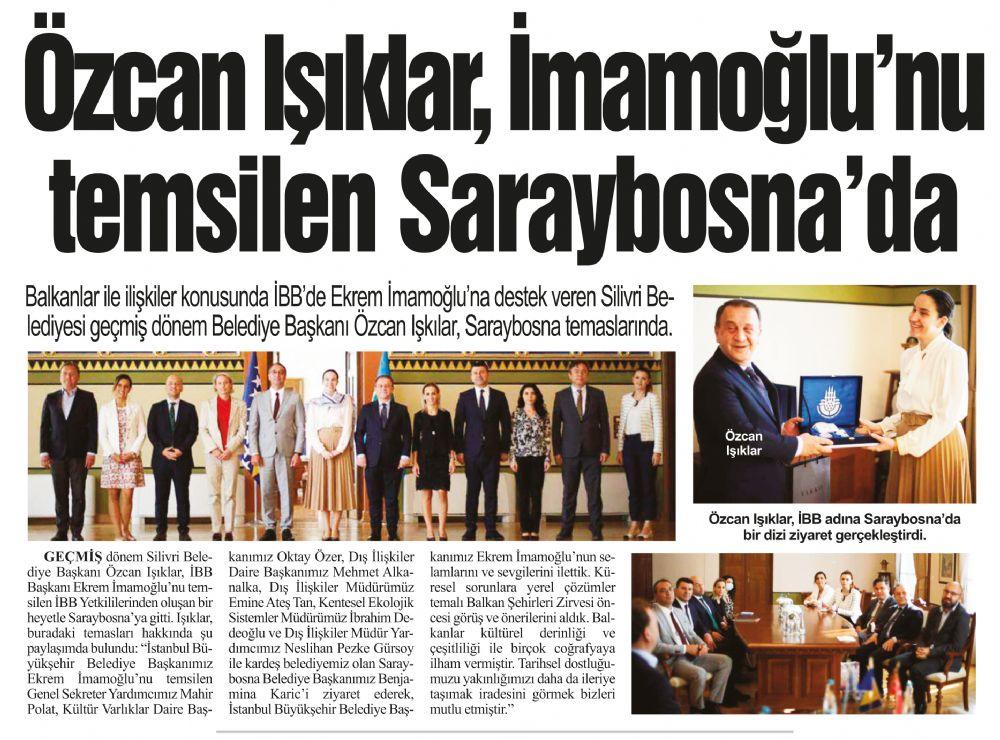 Özcan Işıklar, İmamoğlu'nu  temsilen Saraybosna'da